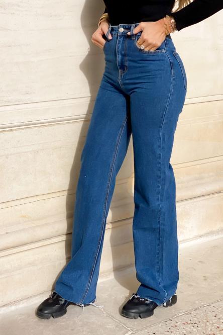 Jeans Femme Evasé Bleu / Réf : 4201-32