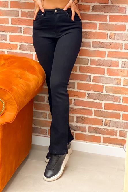 Jeans Femme Flare Noir / Réf : 7386-0