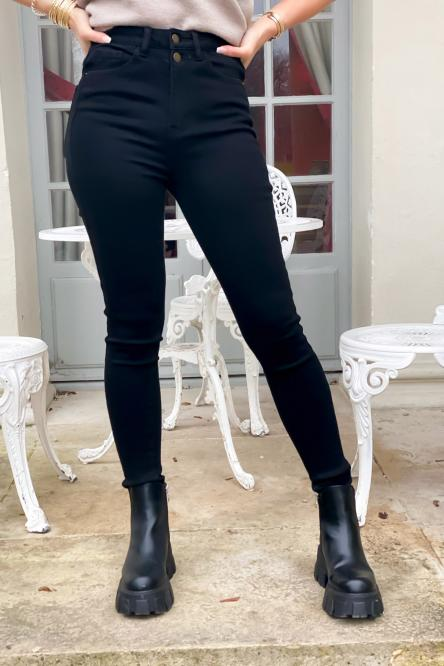 Jeans Femme Skinny Higher Noir / Réf : 1702-0
