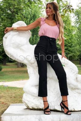 Jeans Taille Haute Noir / Réf : 1173