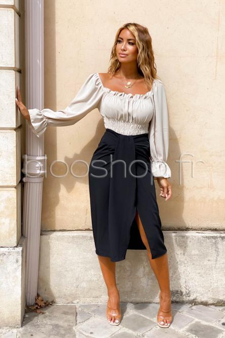 Jupe Femme Bandeau Noir / Réf : 9704