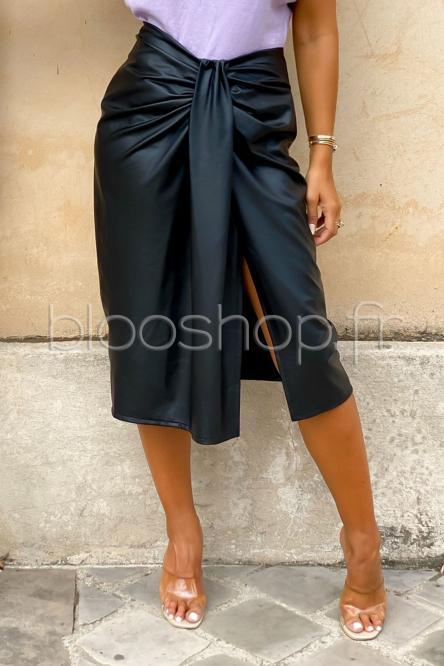Jupe Femme Bandeau Simili Noir / Réf : 3674