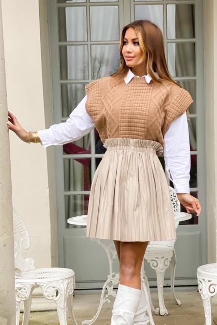 Woman Skirt Beige