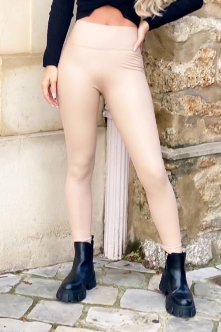 Legging Femme Simili Beige / Réf : 752-2