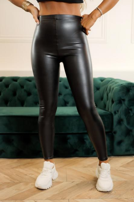 Legging Simili Femme Noir / Réf : 1800-0