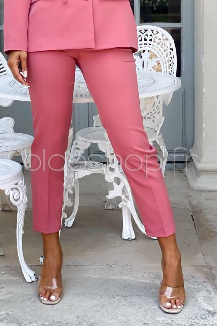 Pantalon Femme à Pince Terracotta / Réf : 6915