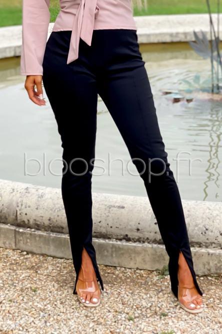 Pantalon Femme Avant Zippé Noir / Réf : 3668