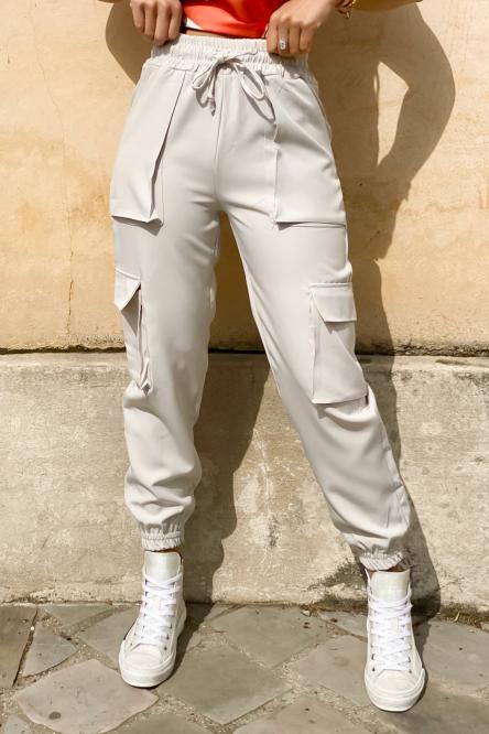 Pantalon Femme Cargo Beige / Réf : 2248-2
