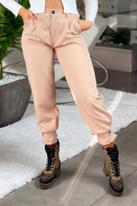 Pantalon Femme Cargo Beige / Réf : 6966-2