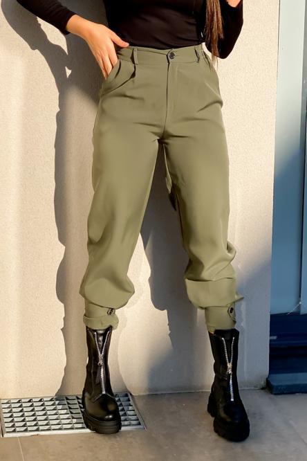 Pantalon Femme Cargo Kaki / Réf : 6966-3