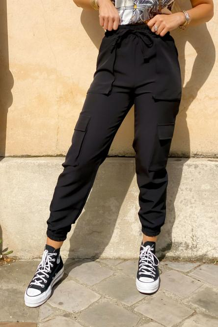 Pantalon Femme Cargo Noir / Réf : 2248-0
