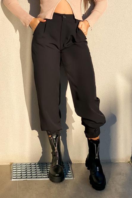 Pantalon Femme Cargo Noir / Réf : 6966-0