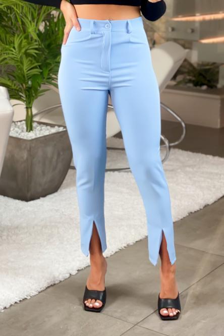 Pantalon Femme Fendu Ciel / Réf : 6013-7