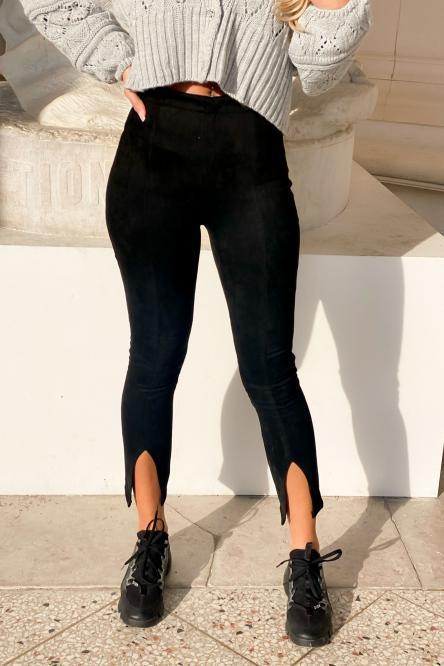 Pantalon Femme Fendu Noir / Réf : 1151-0