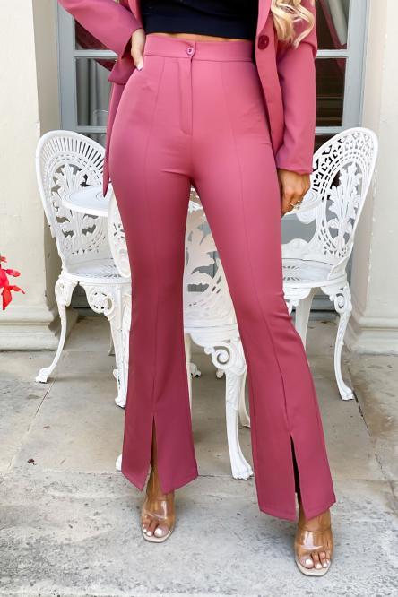 Pantalon Femme Pince Avant Fendu Pepe Rosa / Réf : 9652