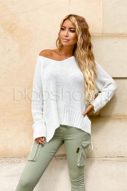 Woman Pullover White