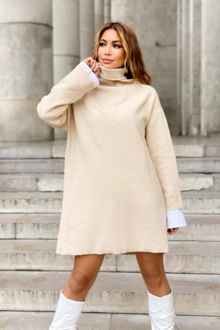 Woman Dress Beige