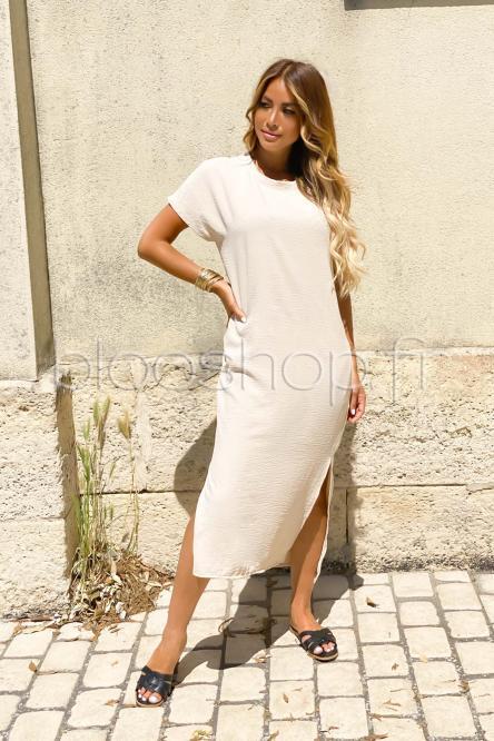 Robe Femme Ample Beige / Réf : 630