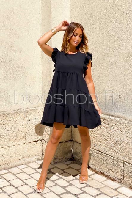 Robe Femme Ample Col Rond Noir / Réf : 968