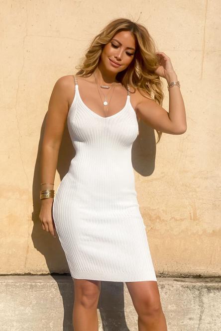 Robe Femme Chaînes Blanc / Réf : 7711-1