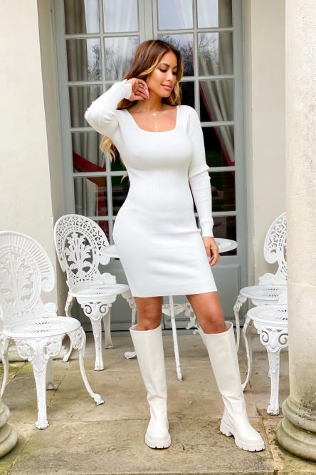 Robe Femme Dos Nu Blanc / Réf : 125-1