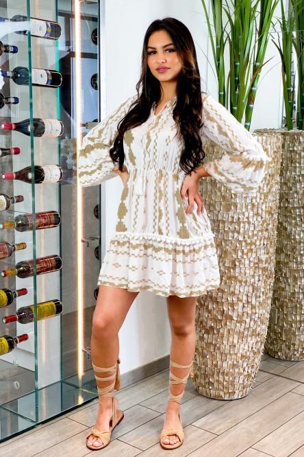Robe Femme Incas Beige / Réf : 3997-2