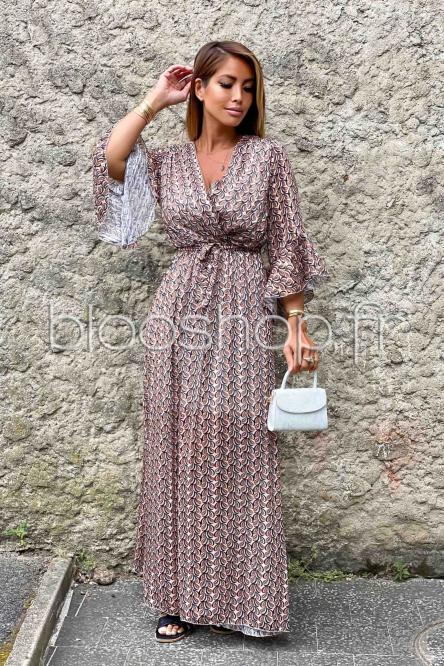 Robe Femme Longue Lurex Taupe