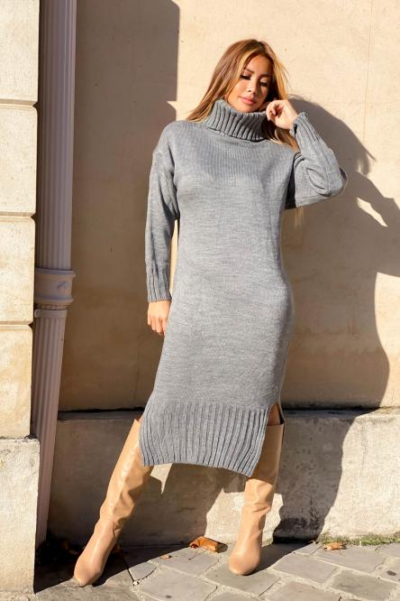 Woman Dress Grey
