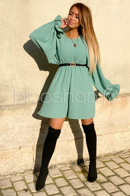 Robe Femme Manches Larges Vert