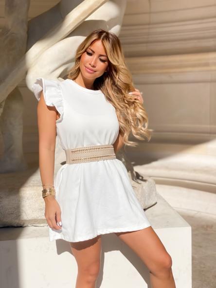 Robe Femme Molleton Blanc / Réf : 7824-1