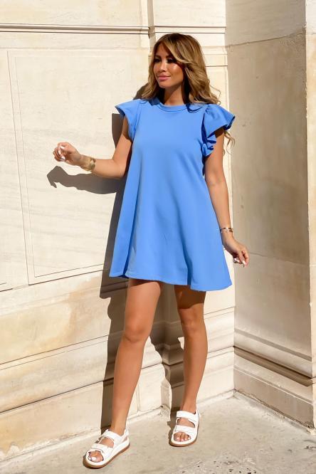 Robe Femme Molleton Bleu / Réf : 7824-6