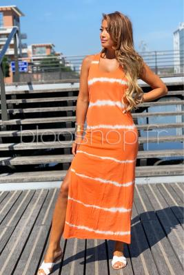 Robe Longue Tie & Die Femme Orange