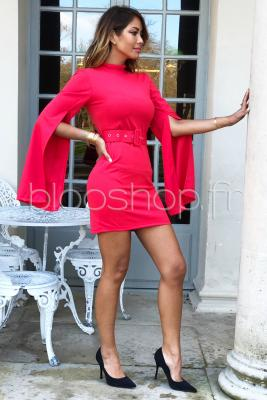 Robe Manches Ouvertes Femme Corail