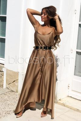 Robe Maxi Femme Taupe