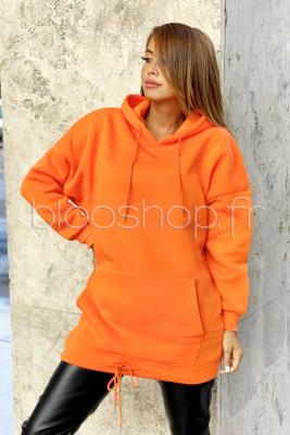 Robe Sweat Femme Orange
