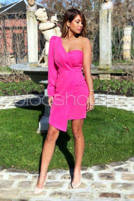 Robe Une Manche Femme Rose