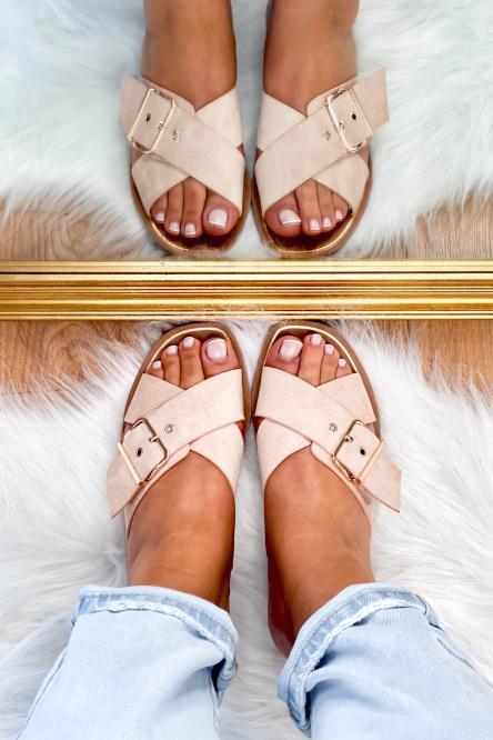 Sandales Femme à Sangles Beige / Réf : HY875-2