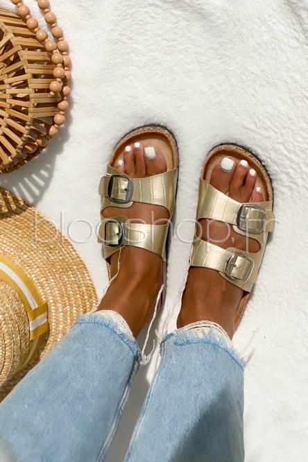 Sandales Femme à Sangles Gold / Réf : BJ514