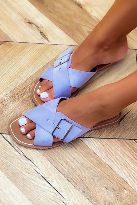 Sandales Femme à Sangles Lilas / Réf : HY875-35