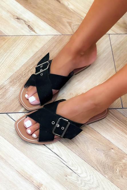 Sandales Femme à Sangles Noir / Réf : HY875-0