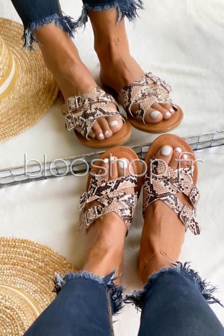 Sandales Femme à Sangles Reptile / Réf : 5138