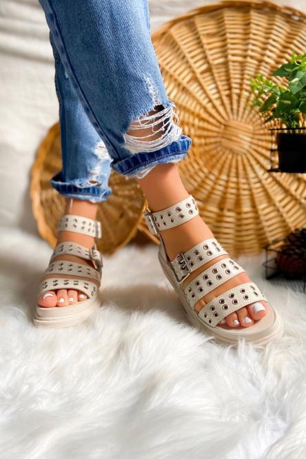 Sandales Femme Beige / Réf : 2208-2