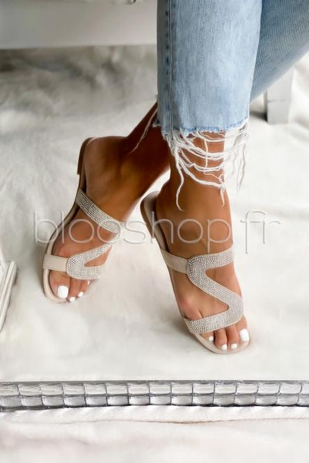 Sandales Femme Beige / Réf : VIVI025