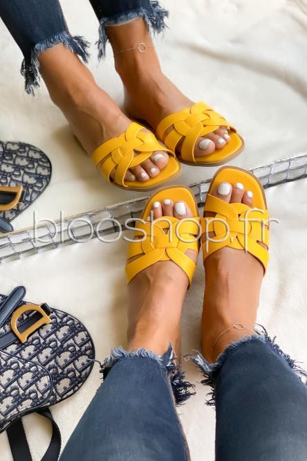 Sandales Femme Colorées Jaune / Réf : YU175