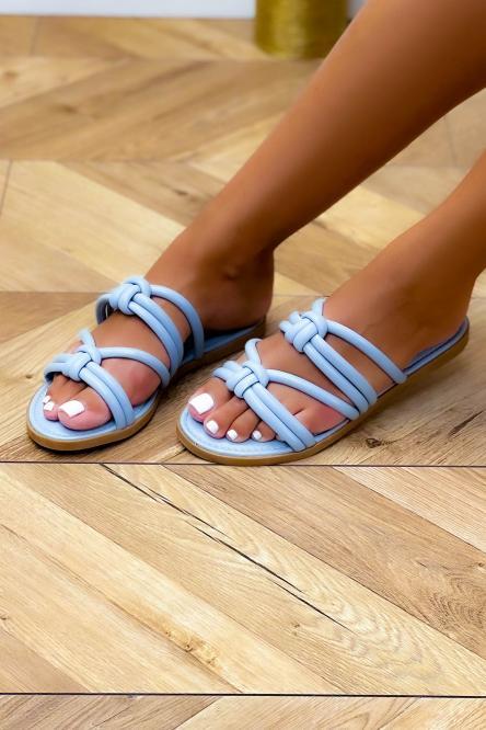 Sandales Femme Cordons Ciel / Réf : NN106-7