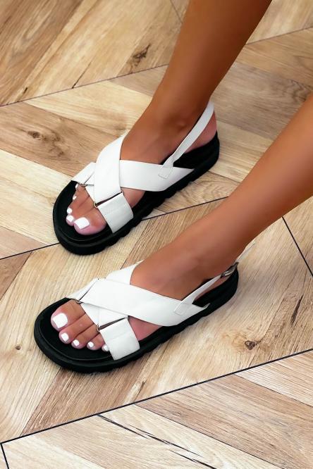 Sandales Femme Croisées Beige / Réf : GLV012-2