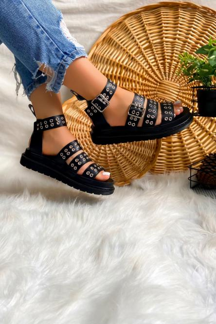 Sandales Femme Noir / Réf : 2208-0