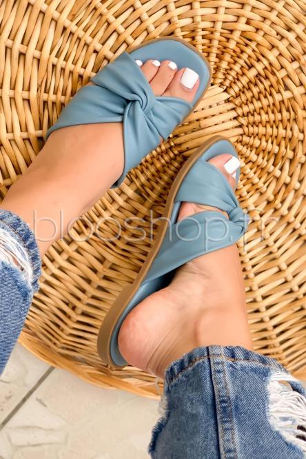 Sandales Femme Nouées Bleu / Réf : T25