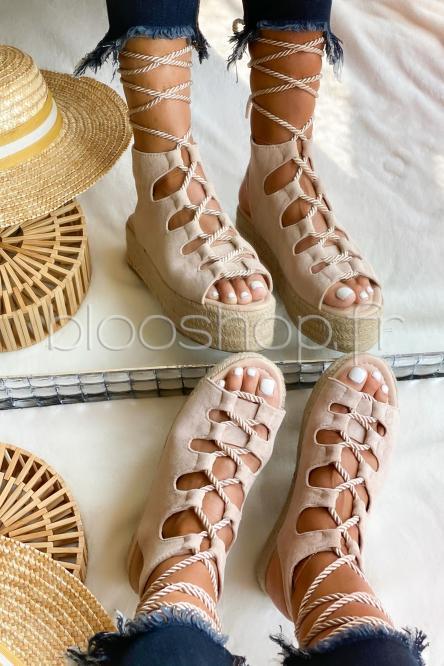 Sandales Femme Plateforme Beige / Réf : BM01511