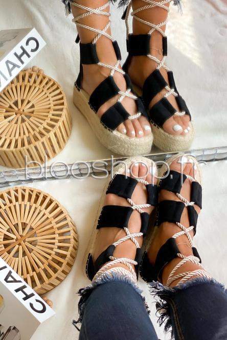 Sandales Femme Plateforme Noir / Réf : 6629